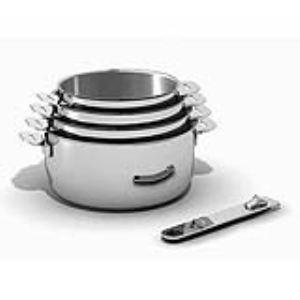 Beka 4 casseroles Move On Classic en inox avec manche amovible 14/16/18/20 cm