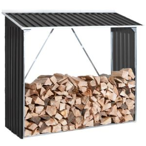 Duramax Abri bûches Woodstore en métal pour 2 stères 1,72 x 0,64 m
