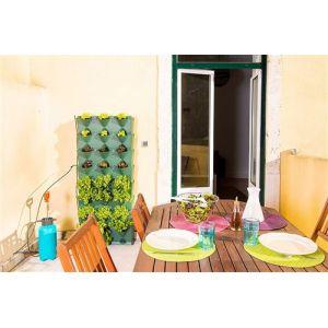 Minigarden Vertical Kitchen Garden pour 24 Plantes, Comprend Le kit darrosage Goutte-à-Goutte, Autoportant ou Fixé au Mur (Vert)