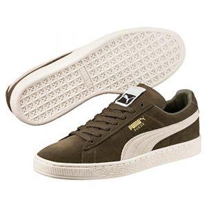 Puma Suede Classic+, Sneakers Basses Mixte Adulte, Vert (Olive Night-Birch), 47 EU