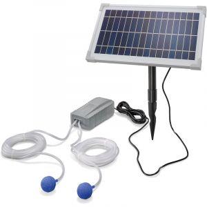 Esotec Aérateur de bassin solaire 8W 200 l/h pompe aération de bassin oxygène 101845