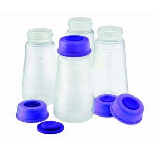 Lansinoh 20404 - 4 flacons de conservation du lait maternel