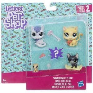 Hasbro Littlest Petshop - Famille chats au ski