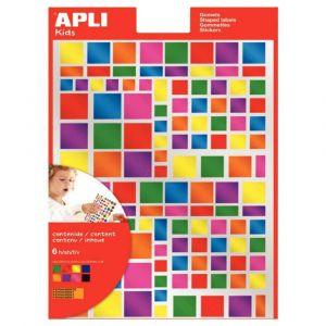 Agipa Gommettes carrés métallisées couleurs assorties - Pochette de 756