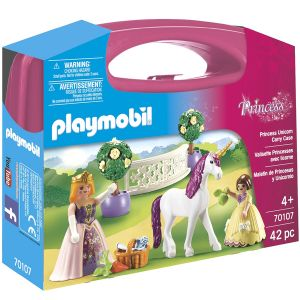 Image de Playmobil 70107 - Valisette Princesse licorne