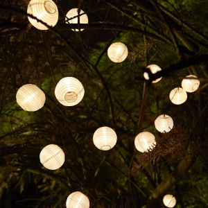 Cemonjardin Guirlande lumineuse solaire 40 lanternes