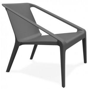 Kokoon Design Fauteuil lounge intérieur et extérieur SOLEADO (GRIS FONCE)