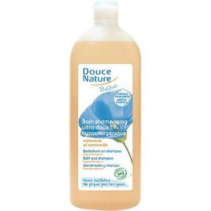 Douce Nature Bain shampooing au calendula bio et à la camomille bio - 1 L