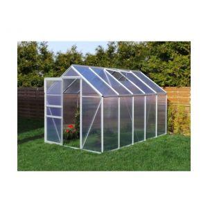 Plantiflex Serre de jardin 5.89 m² en aluminium avec porte et fenêtre