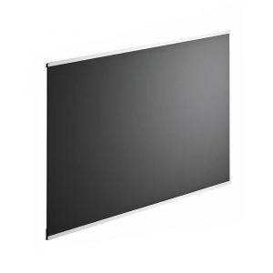 Fond de hotte en verre de 5 mm d'épaisseur style noir 90 x 70 cm