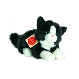 Hermann Teddy Peluche Chat noir et blanc - 20 cm
