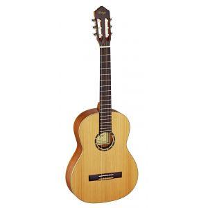 Ortega R131 Guitare de concert avec housse Corps Acajou Table cèdre massif Noir