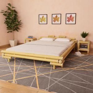 VidaXL Cadre de lit Bambou 160 x 200 cm
