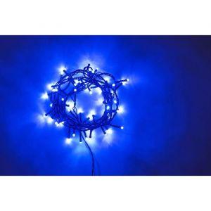 Guirlande extérieure - 240 LED bleu - 12 m - Fil vert - Guirlande extérieure - 240 LED bleu - IP44 - 8 jeux de lumière - Avec contrôleur de mémoire - 12 m - Fil vert.