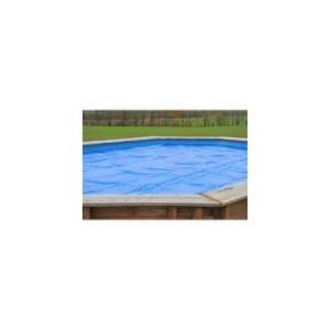 Sunbay 779532 - Bâche d'été à bulles 400 microns en PVC pour piscine octogonale allongée en bois 5,03 x 3,03 m