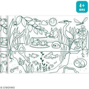 Avenue mandarine Rouleau de papier à colorier Graffy Roll - Ecosystème - 35 cm x 5 m