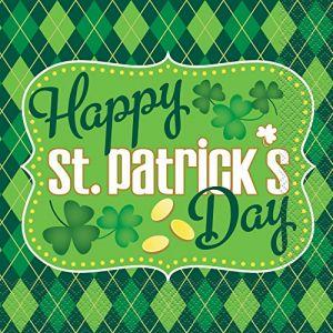 16 Serviettes en papier St Patrick (33 x 33 cm)