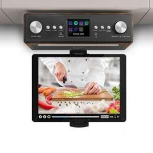 Auna Connect Soundchef Radio de cuisine DAB+ FM + support de tablette - noyer