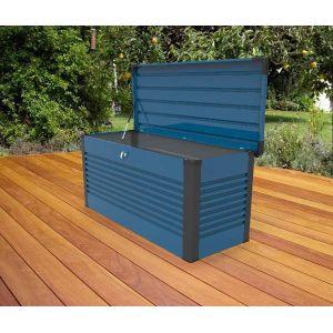 Trimetals Coffre de Rangement Design en Métal 1.46 mètres carrés Patio Box - coloris Blue