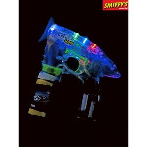 Smiffys Pistolet à bulles, l ineux, tube à bulle et piles inclus