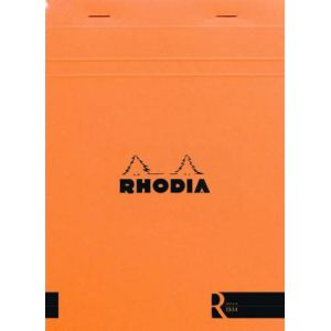 Rhodia 162011C - Bloc R N°16 orange format 14,8 x 21 cm 140 pages - ligné
