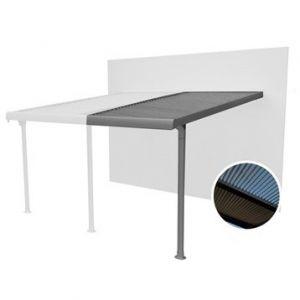 Couleurs du monde Extension de tonnelle murale aluminium gris anthracite 7 m²