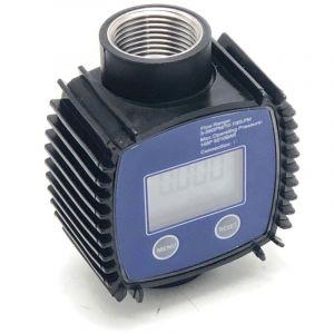 BC-Elec NEFWM-01 Débitmètre numérique pour pompe de transfert de fluide Diesel, Kérosène, Eau, AdBlue 10-100 l/min, 1'', Compteur d'eau et liquide - Bleu