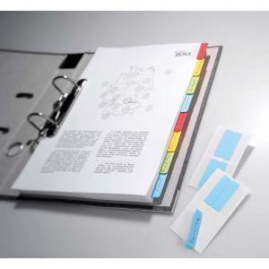 Durable 8406-00 - Sachet de 24 index adhésifs QUICK TAB Duo, coloris assortis