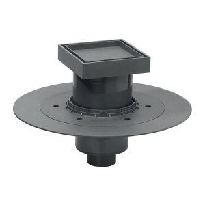 Wirquin Siphon de douche à carreler - 130 x 130 mm - Sortie horizontale - Venisio Pro