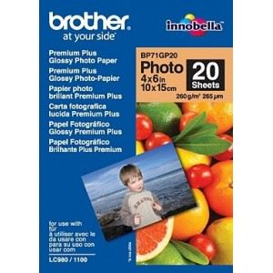Brother 20 feuilles de papier photo Glossy 260 g/m² (10 x 15 cm)
