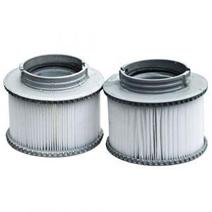 Mendler 2X Filtre à Eau pour Bain bouillonnant M-Spa M-009LS/019LS HWC-A62 Filtre de Remplacement, Cartouche de Filtre