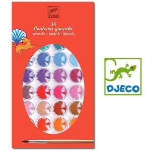 Djeco Peinture - Gouache : 36 couleurs