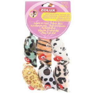 Zolux Lot de jouets souris pour chat modèle lot de 6