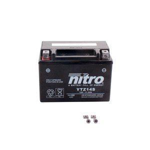 Nitro Batterie YB14-A2 ouvert avec pack acide Type Acide