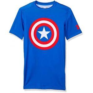 Under Armour 1244399_402 Alter Ego T-Shirt de compression manches courtes - Homme - Bleu
