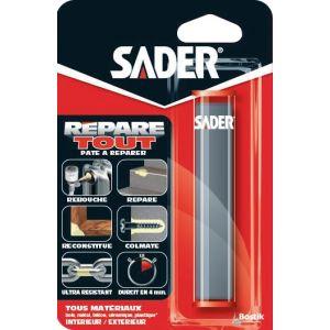 Sader Pâte Epoxy Batonnet - 60g - Pâte à malaxer bi-composants qui permet de réparer, reboucher, reconstituer et colmater durablement.