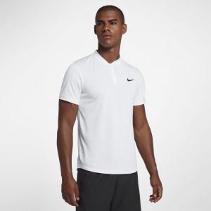 Nike Polo de tennis Court Dri-FIT pour Homme - Blanc - Taille 2XL - Male