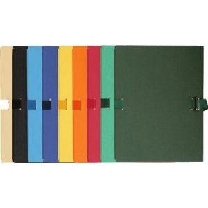 Exacompta 223000E - Chemise à dos extensible, papier toilé, coloris assortis