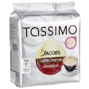 Tassimo 16 dosettes T-Discs Jacobs caffe crema classico