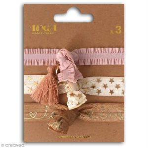 Toga Set de bracelets élastiques - Nude - 3 pcs