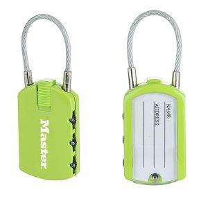 Master Lock Lot de 2 cadenas à combinaison porte adresse 30 -
