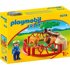 Playmobil 9378 - 1.2.3 : Lions avec enclos