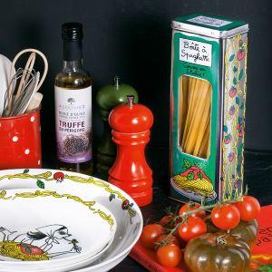Derrière la porte Boîte à spaghetti Comme en Italie