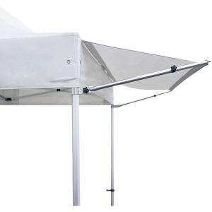 Intent24 Auvent 3m paravent pare-soleil abri pour tente pliante pavillon pliable PREMIUM d'INTENT24 en blanc.FR