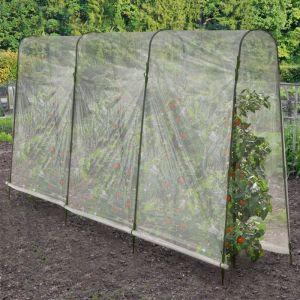Idmarket Serre à tomates 4 arceaux 400x120x180 cm