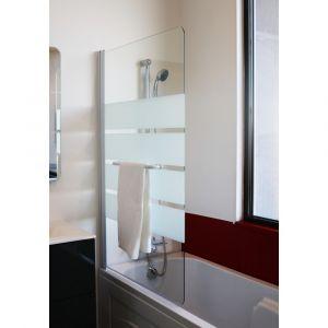 Pare baignoire Anat - 140 x 80 cm - En verre trempé transparent : 4 mm