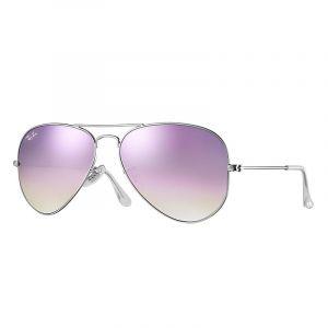 Ray-Ban Aviator flash lenses gradient Sunglasses Verres  Violet, Monture   Argent - f6fb2915cb
