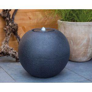 Kaemingk Fontaine de jardin boule granit Led -