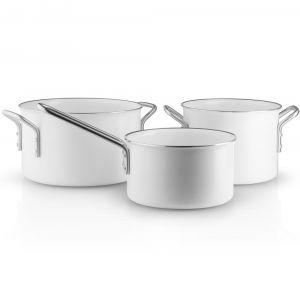 Eva Solo A/S Eva Trio - Batterie de cuisine White Linde casserole à manche 1,8 L / cocotte 2,5 L / cocotte 3,8 L