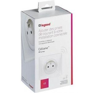 Legrand Alimentation électrique Pack prises de courant installation connectée Céliane with Netatmo 3 prises électriques connectées - blanc